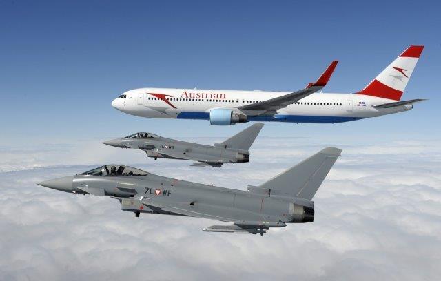 Weltwirtschaftsforum 2017 - Eurofighter-Piloten haben bereits mehrfach d...