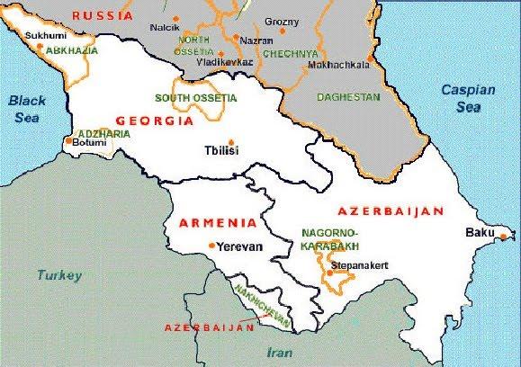 caucaso-cartina