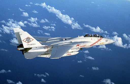 F-14A Tomcat VF-102 in flight 1982