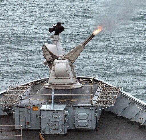 Goalkeeper CIWS Gun Opens Fire During Exercise at Sea MOD 45151583