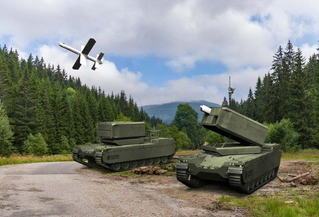 Milrem-Uvision.Multi-Canister-Launcher-
