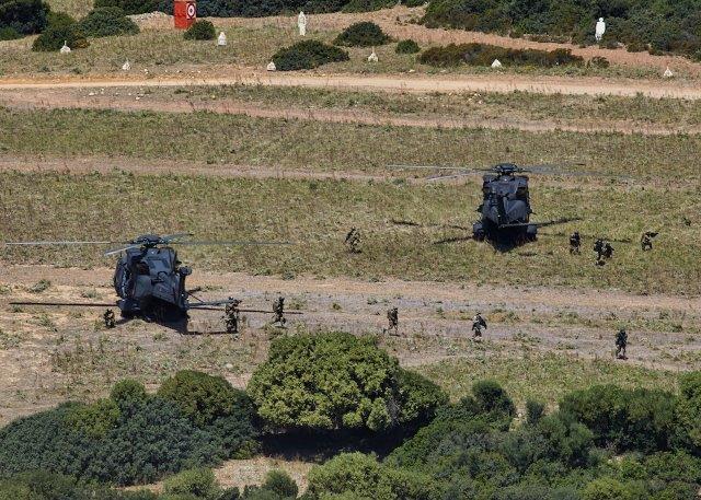 Foto 10 Un momento dello sbarco delle unità terrestri dagli elicotteri UH-90 (002)