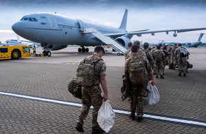 This week members of all three services and civilians have deployed to Afghanistan to assist in the draw down of troops from the area. They travelled from the U.K. They undertook the long journey via various routes of transport, including an RAF Hercules